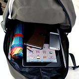 Рюкзак Городской Повседневный для Похода Отдыха Школы Студента зеленый, фото 4