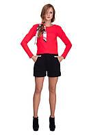 Женские классические шорты черного цвета из неопрена, фото 1