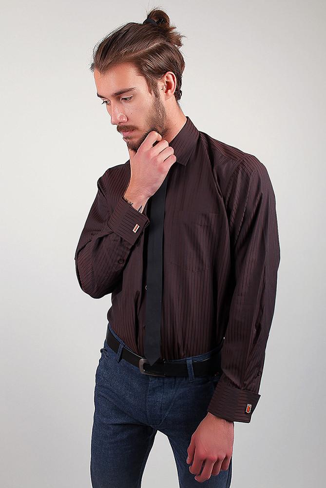 Рубашка Fra №1854-13 цвет Темно-коричневый