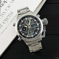 Армейские мужские наручные часы AMST 3003 Silver-Black Metall