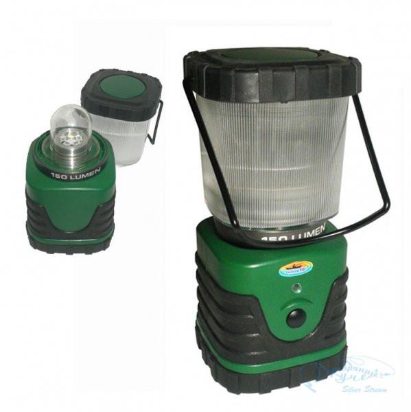 Светильник кемпинговый Fishing Roi;  Lantern 3W Cree Led (Зелёного цвета, с аккумуляторной батареей).