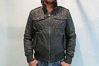 Мужская спортивная куртка Tommy-Hilfiger Denim 6916 темно серая  код 215б