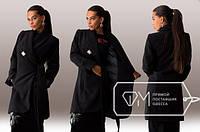 """Роскошное женское пальто """" СТИЛЬНАЯ ЛЕДИ-БРОШЬ"""",Фабрика Моды"""