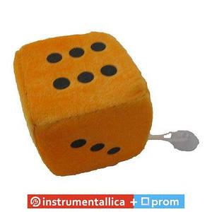 Игрушка Кубик на присоске 8 см оранжевый