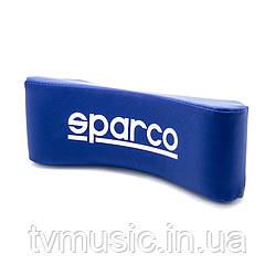 Подушка автомобильная  SPARCO NECK  BLUE PU