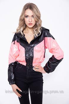 Ветровка женская 103R082 цвет Черно-розовый