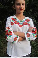 """Блуза """"Полевой букет 2"""" (дом.полотно), 42-46 р-ры, 500\450 (цена за 1 шт. + 50 гр.)"""
