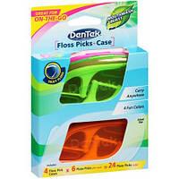 DenTek Флосс-зубочистки 24 шт. + 4 Дорожних футляра