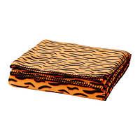 """ИКЕА """"ДУВТРЭД"""" Покрывало/одеяло, оранжевый, 150x240 см."""