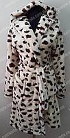 Халат махровый женский  леопардовой расцветки
