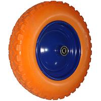Колесо поліуретанове до тачки + вісь (400х80 мм) (K6026)