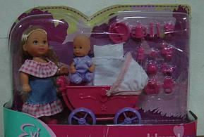Кукла Evi с малышом в коляске Simba 5736241R, фото 3
