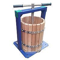 Ручной пресс для сока Вилен-Богатырь объемом 25 литров дубовый корпус