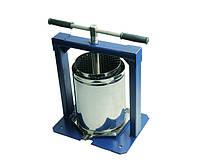 Ручной пресс для сока+кожух Вилен (Вілєн) объемом 10 литров нержавеющая сталь