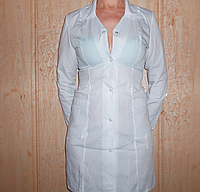 Медицинский халат женский р.р 42-50 , хлопок