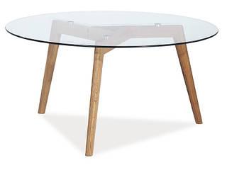 Круглый стеклянный столик Oslo L2