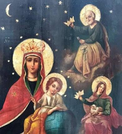 Икона Похвала Пресвятой Богородицы 19 век Державная, фото 2