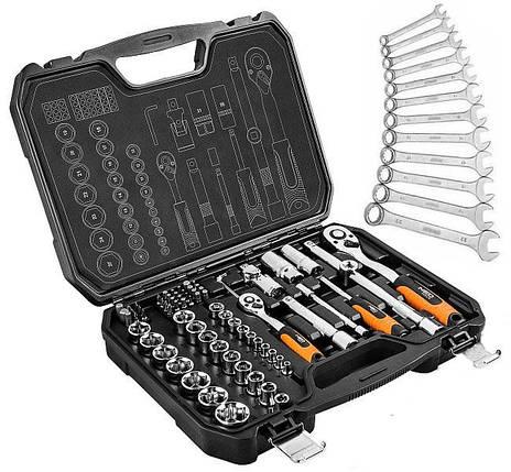 Набор инструментов NEO 73 елемента + 12 рожковых ключей , фото 2
