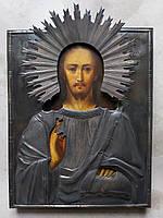 Икона Господь Вседержитель серебро 19 век
