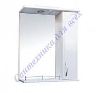 Зеркало для ванной комнаты с пеналом и подсветкой Рондо-65