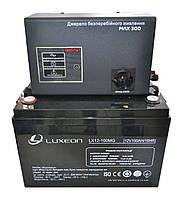 Комплект резервного питания ИБП Вольт MAX-300 + АКБ LX12-100MG 100Ah для 7-12ч работы газового котла, фото 1