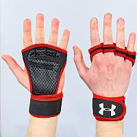 Перчатки атлетические для поднятия веса UAR ВС-9992 S-XL PZ-BC-9992