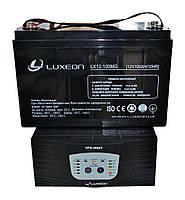 Комплект резервного питания ИБП Luxeon UPS-500ZY + АКБ LX12-100MG 100Ah для 7-12ч работы газового котла, фото 1