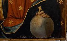 Пара икон Вседержитель и Дубовичская Богородица 1876 год, подписная, фото 2