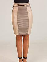 Оригинальная молодежная зауженная юбка с пояском, фото 1