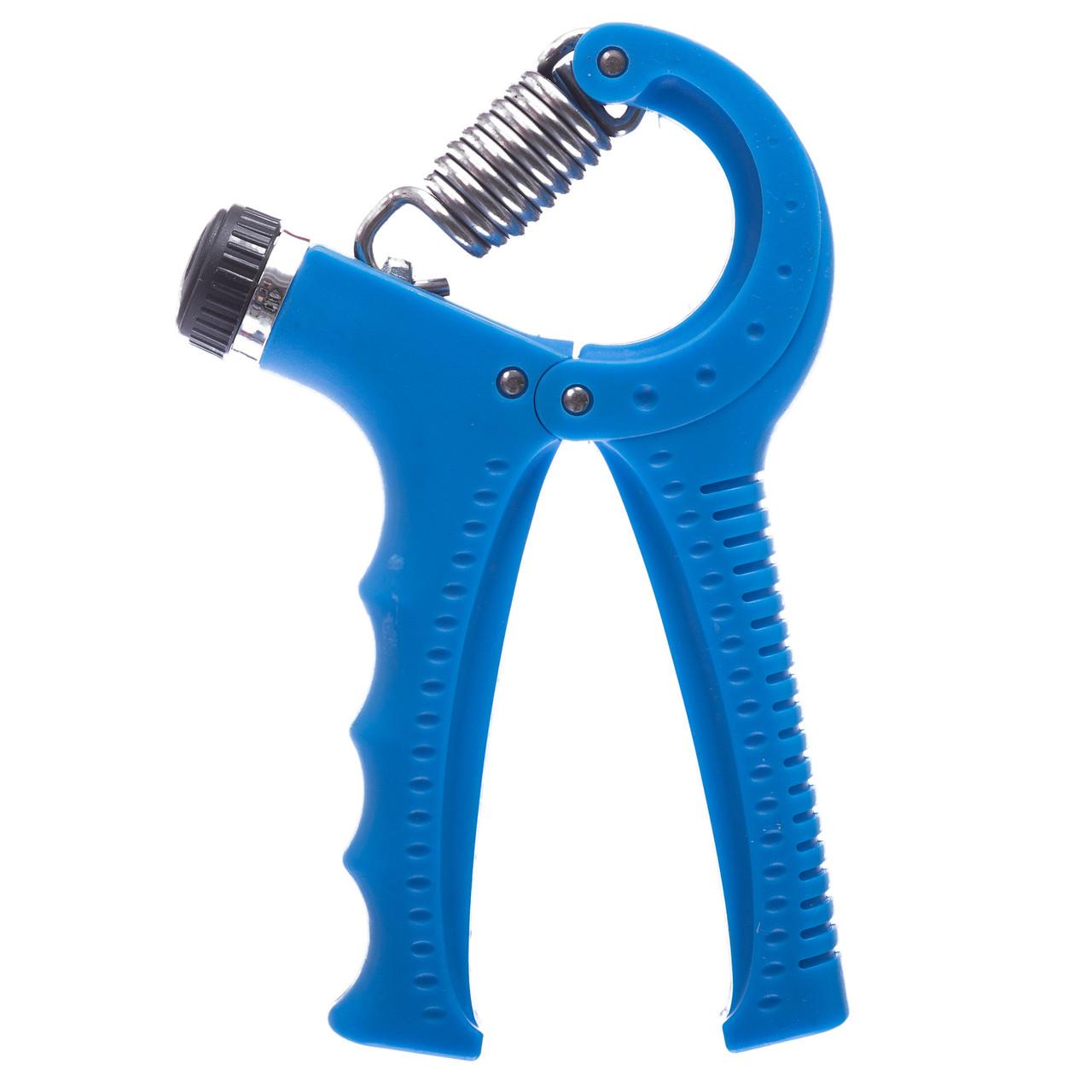 Эспандер кистевой пружинный с регулируемой нагрузкой 10-40кг (1шт) (металл, пластик, цвета в ассортименте)