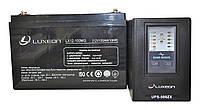 Комплект резервного питания ИБП Luxeon UPS-500ZX + АКБ LX12-100MG 100Ah для 7-12ч работы газового котла, фото 1