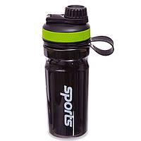 Шейкер для спортивного питания (пластик, 600мл, цвета в ассортименте)
