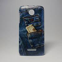 Чехол на Lenovo a390 панель накладка джинсы