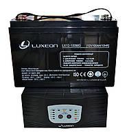 Комплект резервного питания ИБП Luxeon UPS-1000ZY + АКБ LX12-100MG 100Ah для 7-12ч работы газового котла, фото 1