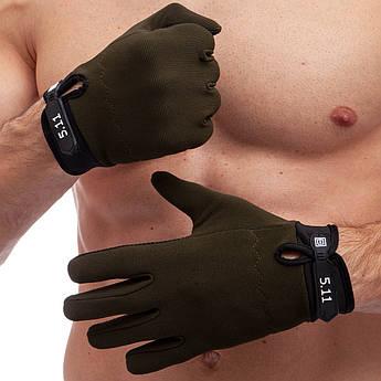 Рукавиці тактичні з закритими пальцями 5.11 Tactical (M-XL) PZ-BC-0527