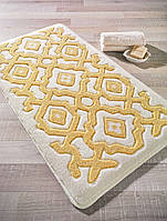 Коврик 55х57 Confetti Bella Sierra кремовый с желтым рисунком
