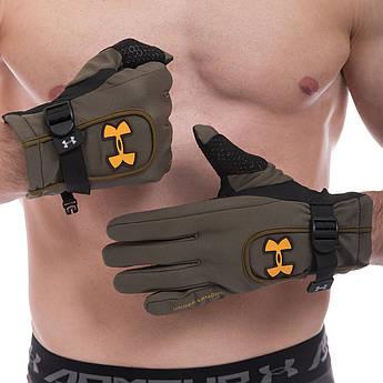 Рукавички спортивні теплі водонепроникні UAR (фліс, PL, закриті пальці, M-XL) PZ-BC-1624