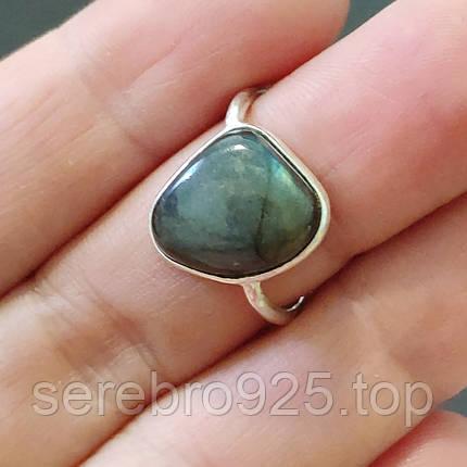 Кольцо с натуральным лабрадором в серебре 16 р., фото 2