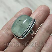 Кольцо с пренитом в серебре18 размер, фото 2