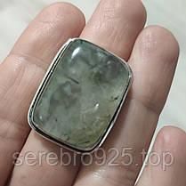 Кольцо с пренитом в серебре18 размер, фото 3