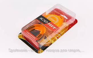 Капа боксерская ароматизированная односторонняя (одночелюстная) в футляре ICE HIT Апельсин  (термопластик, р-р L для взрослых, оранжевый) Распродажа!