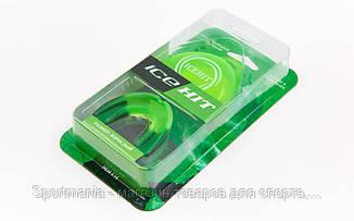 Капа боксерская ароматизированная односторонняя (одночелюстная) в футляре ICE HIT Мята  (термопластик, р-р L для взрослых, зеленый) Распродажа!
