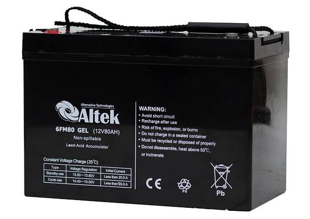 Аккумуляторная батарея Altek 6FM80AGM, фото 2