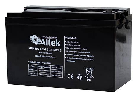 Аккумуляторная батарея Altek 6FM100AGM, фото 2