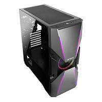 Корпус Antec DA601, Gaming, MidT,E-ATX,2*USB3.0, 1*120мм ARGB + 1*120мм, скло(бок.панель),без БЖ,чорний