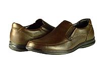 Мужские туфли комфорт mida 11821шок чёрные   весенние , фото 1