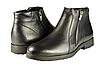Мужские ботинки на флисе mida 12103ч чёрные   весенние
