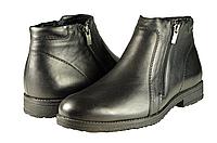 Мужские ботинки на флисе mida 12103ч чёрные   весенние , фото 1