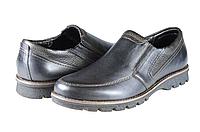 Мужские туфли комфорт mida 11081ч черные   весенние , фото 1