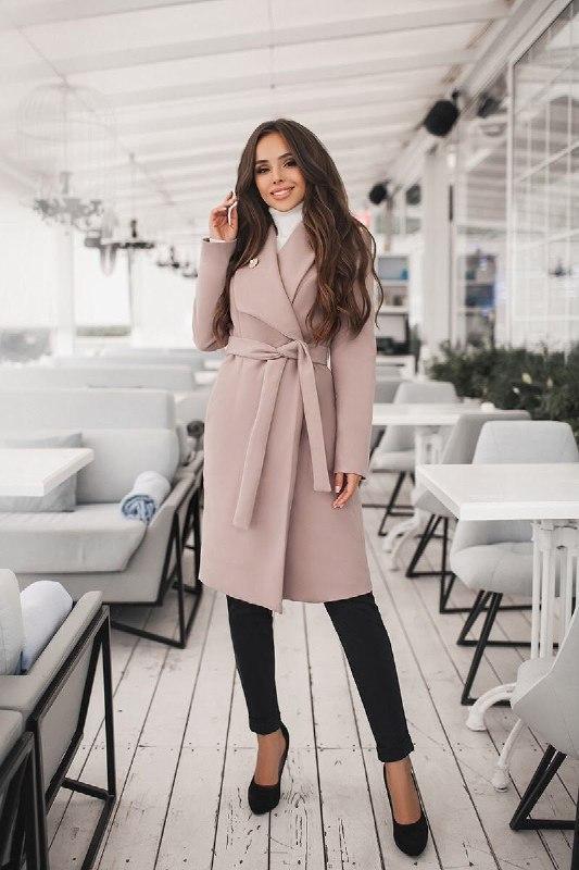 Классическое женское кашемировое пальто на подкладке, Итальянский кашемир,цвета, р.  42,44,46,48,50
